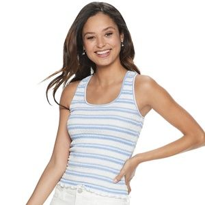 SO Juniors' Smocked Tank Top NWT